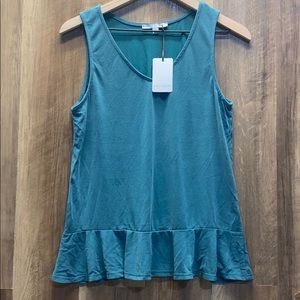 GREEN ENVELOPE - Low Peplum Tank (ab33)